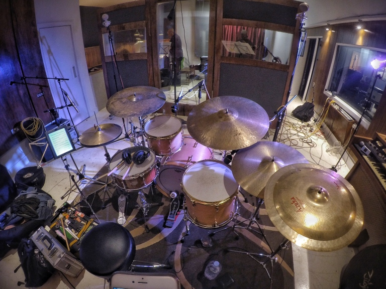 drums, studio, tristan banks